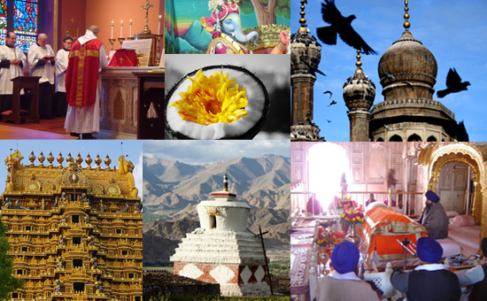 Different parts of India contributed to its Religious Life