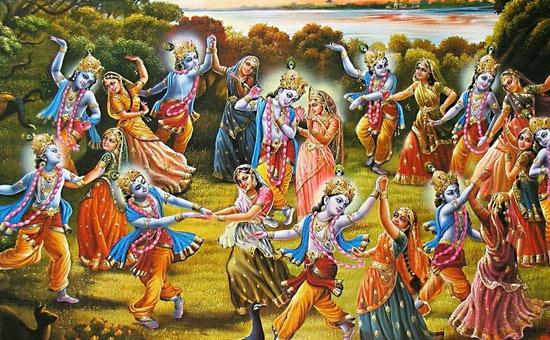 Krishna expands to create Raas Raaseshwari Sri Radhey