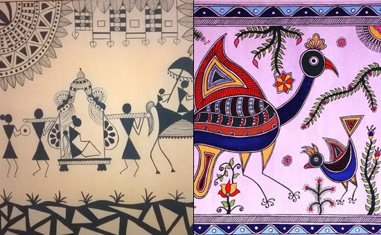 Warli Painting and Madhubani Painting