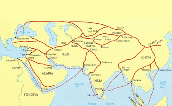 The Saka Lands Linking India and Europe