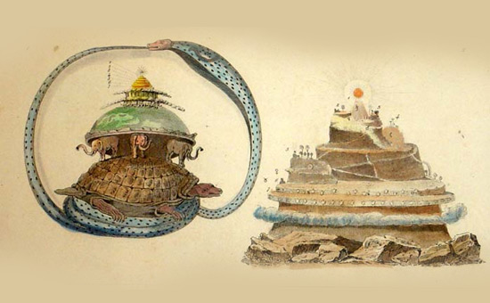 The Turtle supporting Mount Meru in Asian and Mesoamerican Art