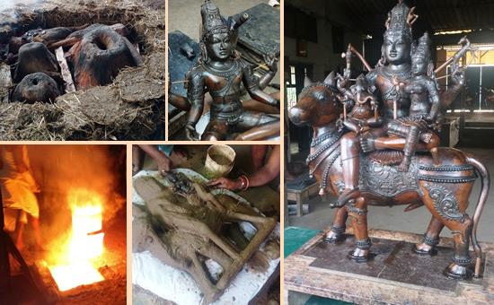 Bronze (Panchaloha) Moorthy making in Swamimalai, Tamil Nadu