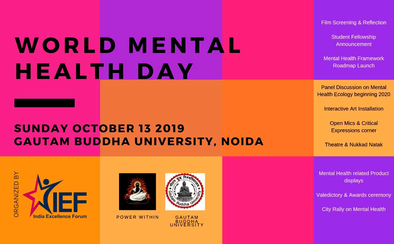 World Mental Health Day 2019, Gautam Buddha University, NOIDA.