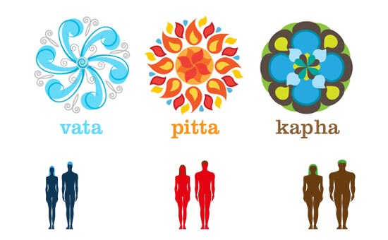 Physical attributes of Vatas, Pittas and Kaphas