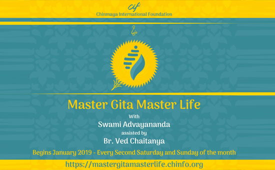 MASTER GITA MASTER LIFE course at Chinmaya International Foundation