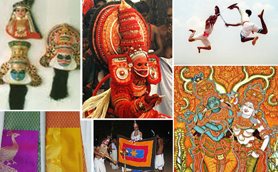 Arts, Crafts, Dance, Literature, and Ayurvedic Traditions of Kerala