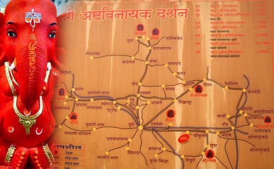 Maharashtra`s famous Ashtavinayaka Temples
