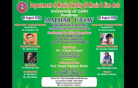 MALHAR UTSAV Showcases Monsoon Ragas