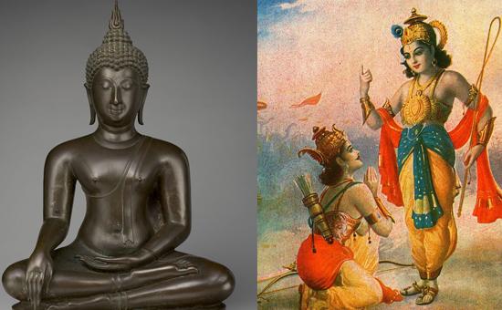 What is common to the Dhammapada and Bhagavad Gita