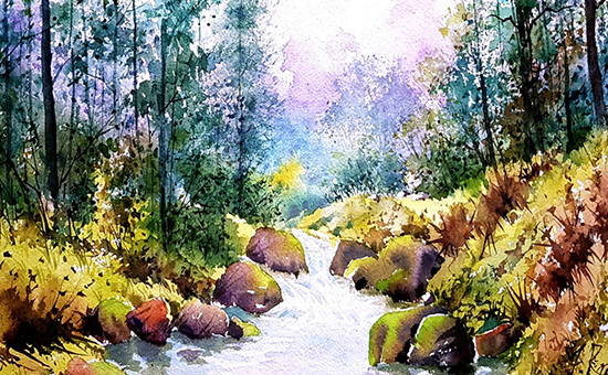 Why do Artists of Landscape Paintings Prefer Watercolor