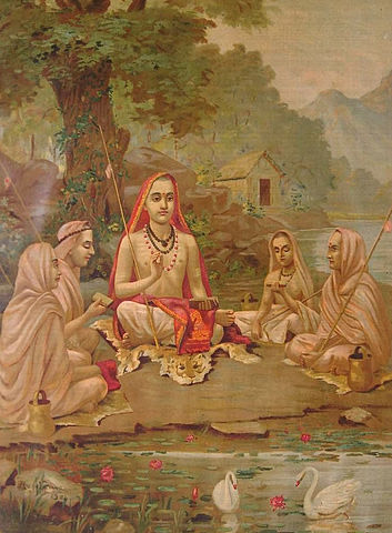 An Encounter between The Holy and The Lowly - Adi Sankara`s Maneesha Panchakam