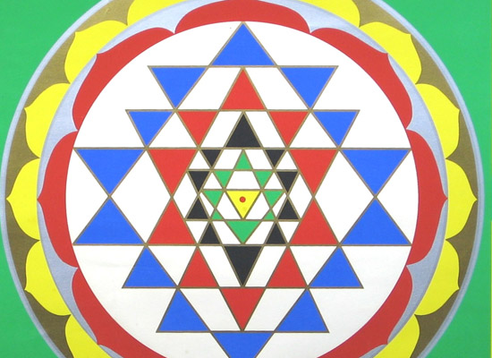 How did the popular `Sri Yantra` evolve