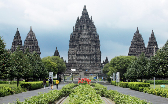 Architecture of Indonesian Shiva Temple in Prambanan