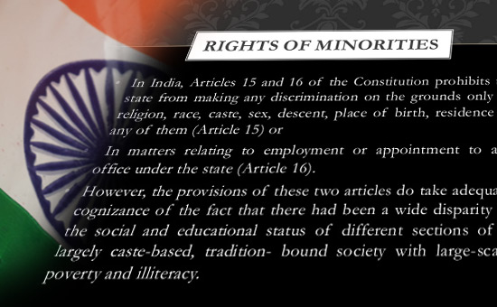 THE RIGHTS OF MINORITIES- Should Not end up in Isolating them Further