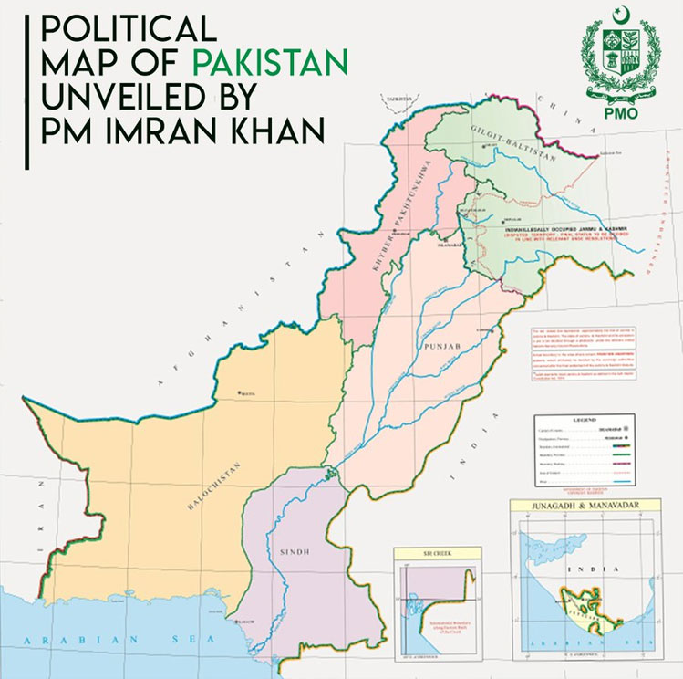 Analysing the New PAKISTAN MAP