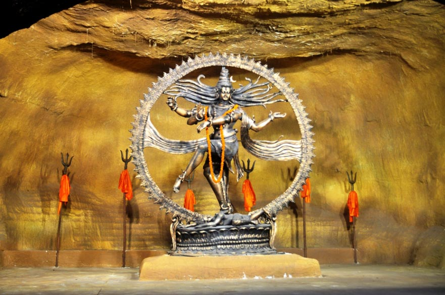 Worship of Shiva is also very popular during Durga Puja. This is the dancing Nataraj at FD Block, Salt Lake.