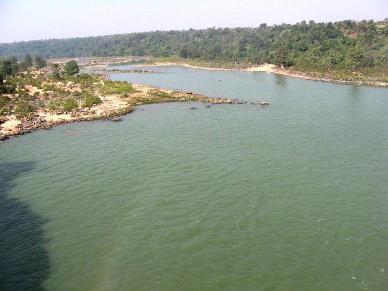Jagdalpur Indravati river - view from Chitrakut falls.