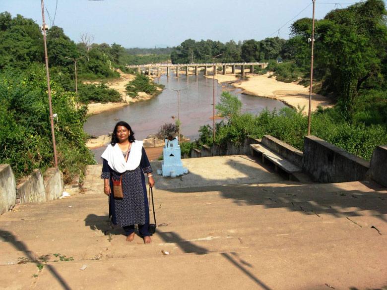 Jagdalpur View from Danteshwari Matajitemple , river Indravati joins the Godavari river near this place.
