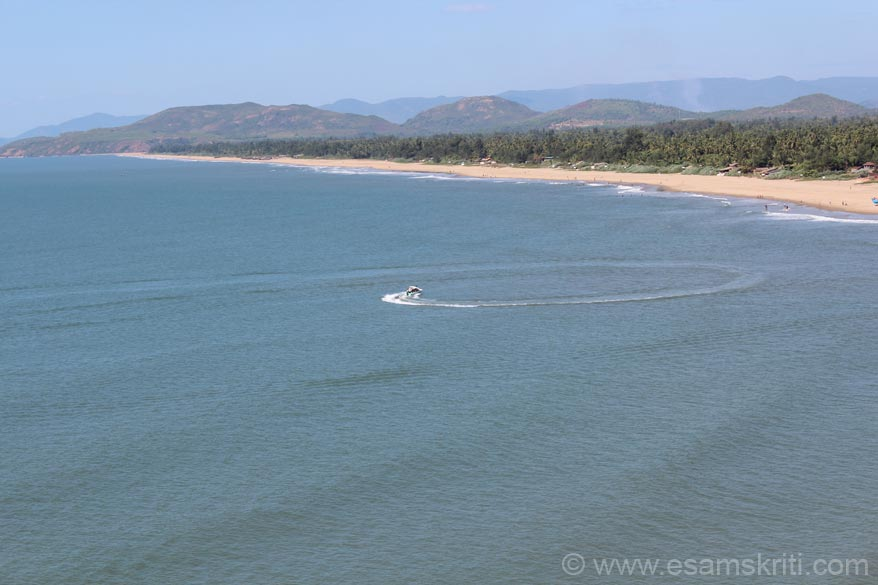 Gokarna is now known as much for its beaches as for its temples, mutts. There are 4 beaches. One is Gokarna beach. Two is Kudle beach. Three is famous Om beach. Four small ones are Half-Moon