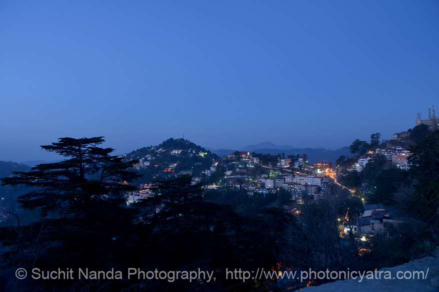 Late evening view at The Mall Road. At some distance from Shimla do visit Fagu, Kufri and Chail.