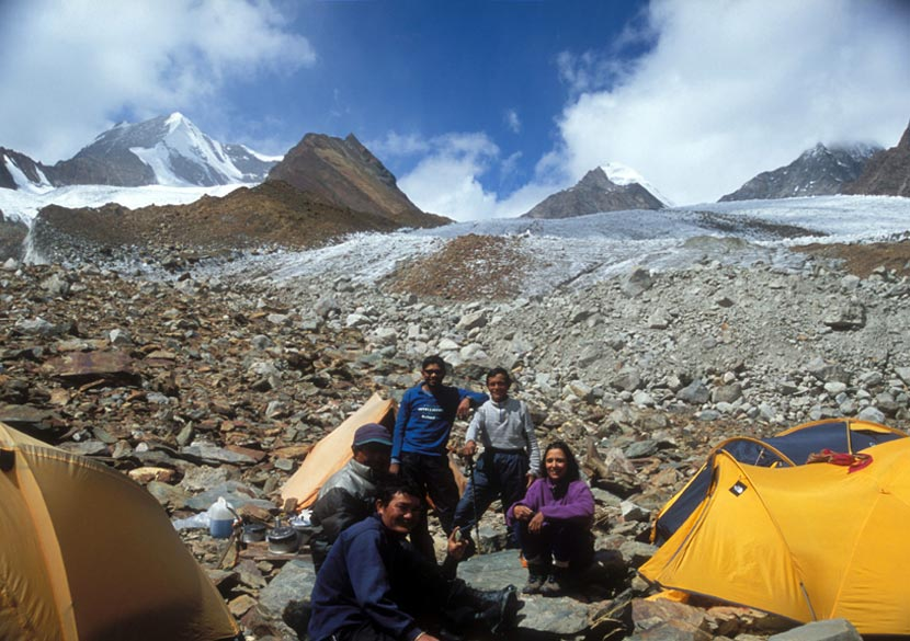 Members at Advanced Base Camp 5160 metres.
