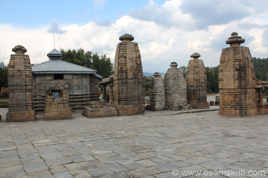 View of the temples and the main temple Pancharatha taken as you enter the temple complex.