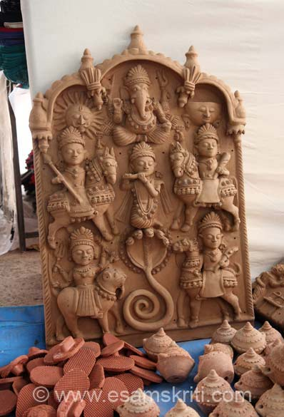 This piece has Ganesha at top, Shri Krishna in centre etc. Thought it would be soft, actually quite hard. Contacts 91 9461944249, 9950304249, 029530285299, email 