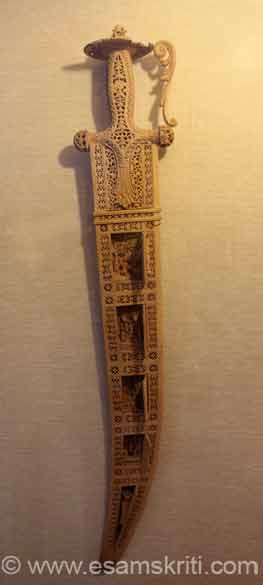 A sword made of sandalwood. Place is certainly worth a visit esp. if you are interested in costumes. Missed clicking huge carpets and a horse carriage.