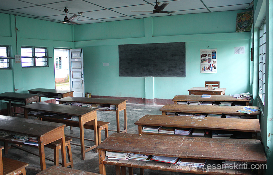 A typical classroom. Since it was Sunday no students. Classroom is like what we had back home in Mumbai. Women folk here like in other parts of Arunachal work very hard. Problem is that mother and father drink a lot with its harmful effects. Drink is Rice Beer locally called APONG.