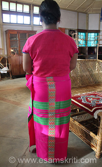 Lower garment for women is called GALE. Because it has this design it is called Kotak Gale - also called Sarong like they do in Thailand. It also contains acrylic that gives it strength and 