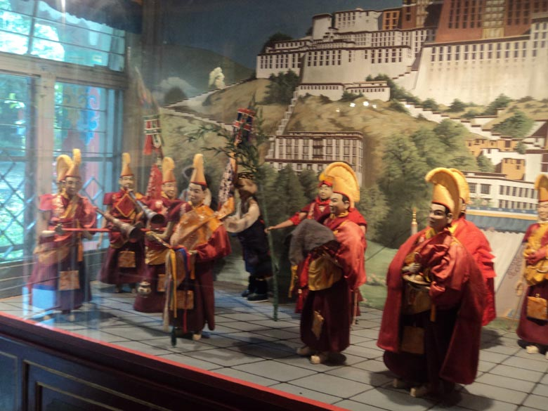 The doll museum inside Norbulingka monastery is a definite attraction.