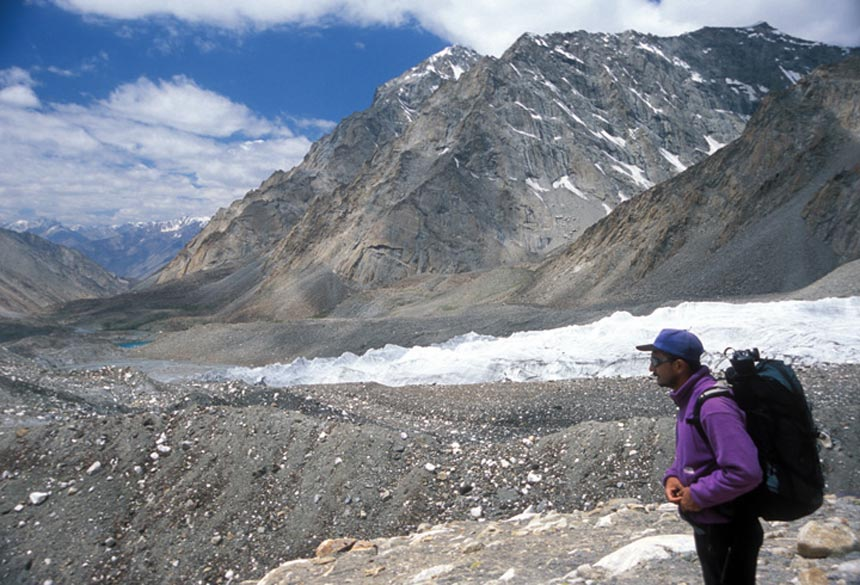 Divyesh on the Rekki of Lung Tung glacier.