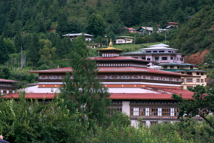 This is a picture of the royal palace.  It is one side of the