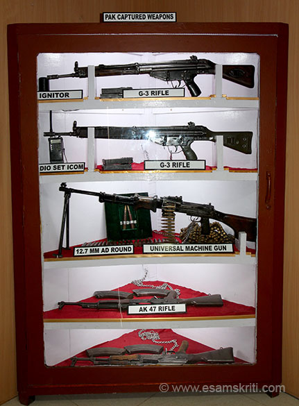 Weapons seized from the Pakis.