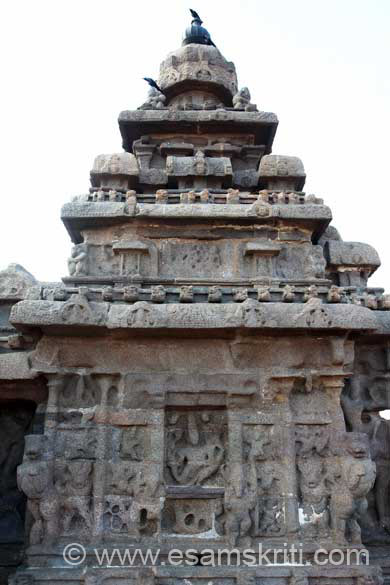 Side view western side of gopuram. As you can see images are not clear.