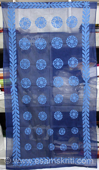 Blue curtain 42 by 84 for about Rs 1,550/.