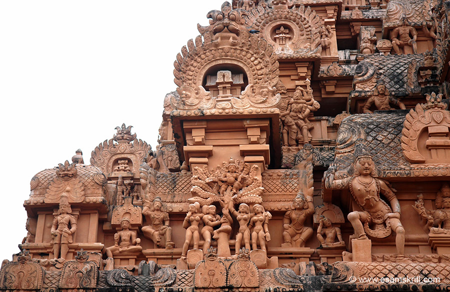 Centre scene is Krishnavastaram - Krishna took away dress of the 4 gopis and sits on top of tree. On right see Ugra Narasimha. How did artisans of those times break rocks. According to Selham 
