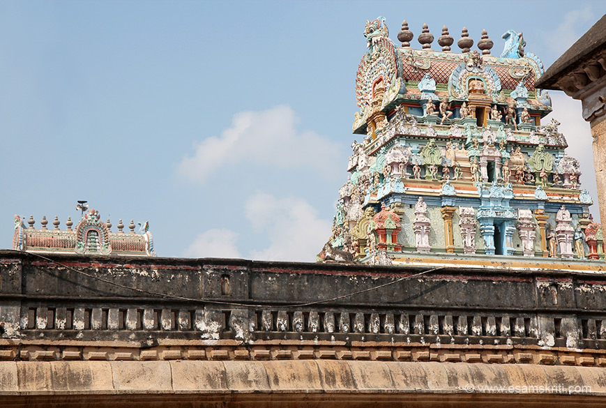 View of two gopurams 2 and 3.