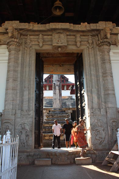 "U see entrance ornate to temple. ""It was during 14th - 16th centuries that this city witnessed an unprecedented growth as a center of Jain religion, culture, art and architecture. Not less 