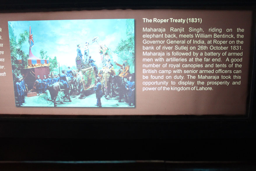 Ropar Treaty with the British in 1831. Ranjit Singh was smart enough never to clash with the British. Ranjit Singh died on 27/6/1839.