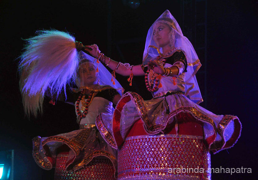 "Look at the eyes, the movement so graceful. Had see this and many other wow Manipuri dances at Sangai Festival 2014. To see pics of festival  <a href=""http://www.esamskriti.com/photo-detail/Sangai-Festival-2014-Part-2.aspx"" target=""_blank"">Click here</a>"