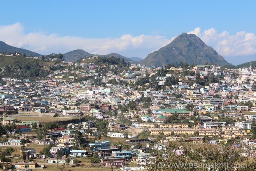 Another view of town. Left of pic u can see stadium. Big hill that you see on right of pic has a temple on top. It is called Asur Chula Mandir (named after a local deity). Our next stop was
