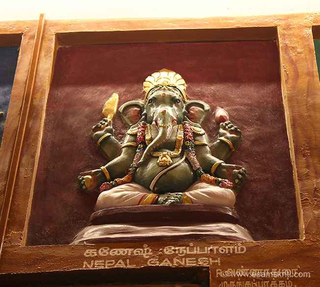 Nepal Ganesh. Do visit this lovely, positive energy filled temple when in Pondicherry.