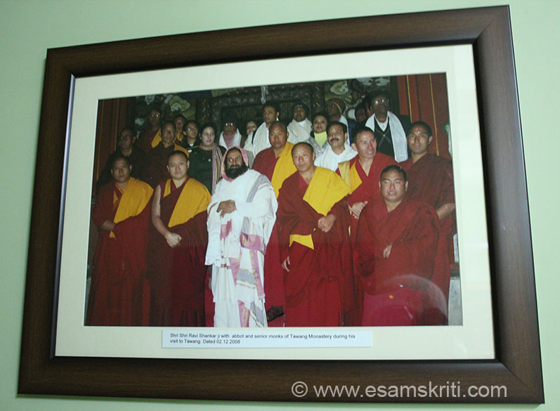 "Sri Sri Ravi Shankar in Tawang with monks. To see pics of Tawang War Memorial <a href=""http://www.esamskriti.com/photo-detail/Tawang-War-Memorial.aspx"" target=""_blank""> Click here</a>"