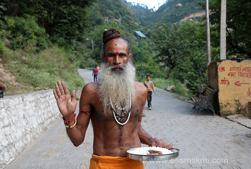 "This Swami sat at a temple enroute. Saw him and just loved the way he looks so decided to share pic. A 3 day annual Shivkhori Mela is held during Maha Shivaratri. Cameras not allowed inside cave. To see photos of other Shiv Temples<a href=""http://www.esamskriti.com/themes/Shiv-Temples.aspx"" target=""_blank"">Click here</a>"