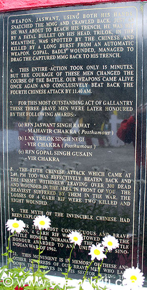 Pic 2 on The Battle of Nuranang. The courage of these men changed the course of this battle, our weapons came alive again, we conclusively beat back the fourth Chinese attack by
