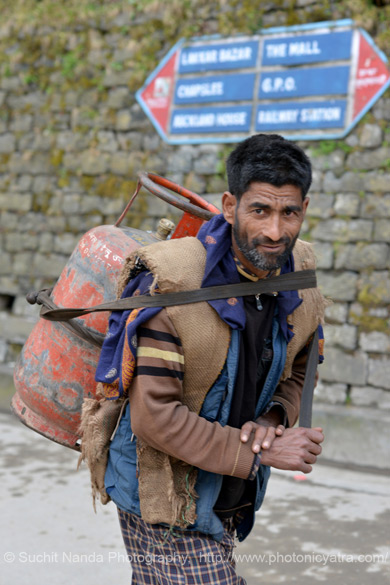 "Very heavy loads are carried on the back by porters on hire. Close to Dalhousie in Himachal is Chamba Valley. To see pics <a href="" http://www.esamskriti.com/photo-detail/Chamba-Valley.aspx"" target=""_blank"">click here to see pics</a>"
