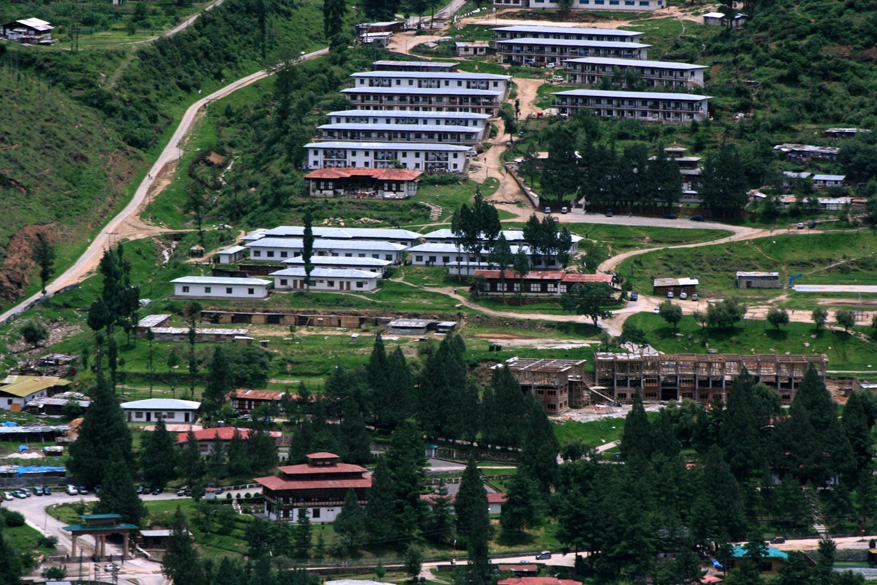 Slopes of Thimphu city.  But there is a lot of modern