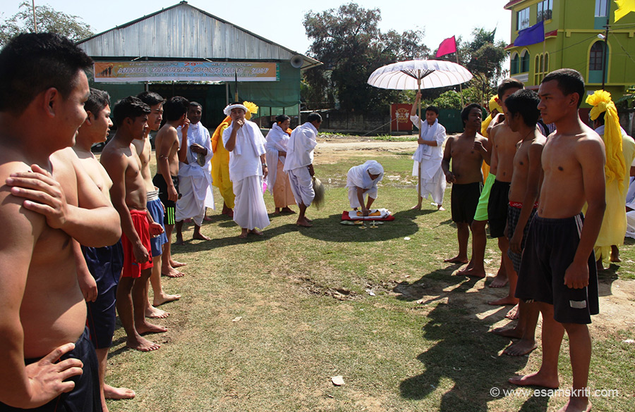 Getting ready for traditional Game of Yubi Lakpi ( Rugby type) which is a part of the Holi Festival(Yaosang) in Manipur. Did you know that Polo was founded in Manipur. To see pics of 