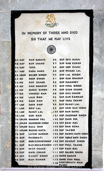 In Memory of those who made the Supreme Sacrifice so that we, the people of India can live in peace.
